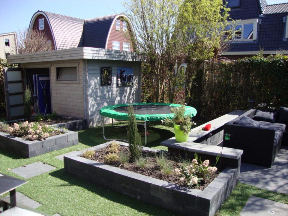 aanleg tuin met kuntgras